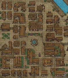 Fantasy City Map, Fantasy Town, Dnd World Map, Pathfinder Maps, Pen And Paper Games, Call Of Cthulhu Rpg, Building Map, Rpg Map, Dungeon Maps