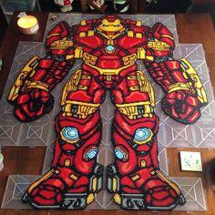 Iron Man perler bead art by honey.beads... This is insane
