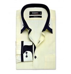 Yellow Broad Self Stripe Dress Shirt