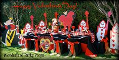 Valentine's Day tea party. Table design and props created by : Wonderland Party Props