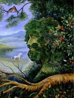 The Goddess Within - novel by Iva Kenaz - Greenman by Pamela Matthews