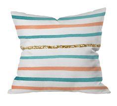 sparkle stripe pillow on @jossandmain