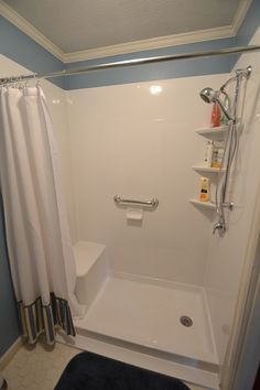 Walk In Shower Remodel With Glass Shower Doors Brytons Bathroom - Bathroom remodel new bern nc