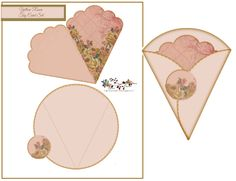 Yellow Roses Cone Tag Card (Free-download )