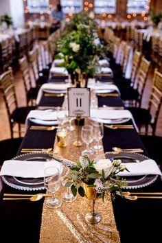 Glam Chicago Wedding with Art Deco Details · Ruffled Great Gatsby Wedding, 1920s Wedding, Our Wedding, Dream Wedding, Wedding Gold, Reception Decorations, Event Decor, Gatsby Wedding Decorations, Art Deco Wedding Decor