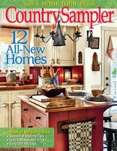 Relax and enjoy country decorating ideas and inspiration in Country Sampler magazine. Vintage Country, Country Decor, Farmhouse Decor, Primitive Homes, Country Primitive, Country Sampler Magazine, Off White Cabinets, Magazine Crafts, Inspired Homes