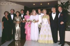 (Left to Right) Gregory Peck, Veronique Peck, Philippe Junot, Princess Caroline of Monaco, Princess Grace Kelly of Monaco, Prince Albert II of Monaco, Barbara Sinatra, Prince Rainier III of Monaco, Frank Sinatra.