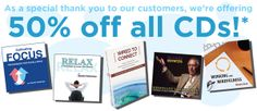 Thank you! Save 50% on all CDs during our #thanksgiving sale. #audio #mindfulness #leadership