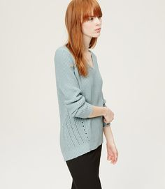 Primary Image of Pointelle Ribbed Sweater