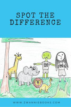 Can you spot the difference with our two friends? There are 16 in total, so grab your pens. Circle each difference the moment you find one. Fun Educational Games, Different, In This Moment, Activities, Adventure, Comics, Pens, Books, Friends