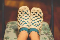 Instant Download Crochet Pattern Lola Slippers Sizes by Mamachee