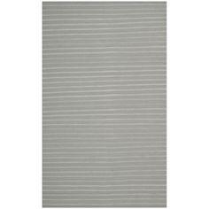 Entryway - Safavieh Hand-woven Moroccan Dhurrie Stripes Dhurrie Grey Wool Rug