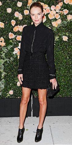 kate bosworth - in all black at chanel dinner in LA - via people