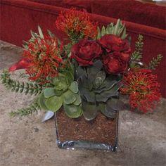 unusual flower arrangements   Holiday Succulent Flower Arrangements - First Come Flowers