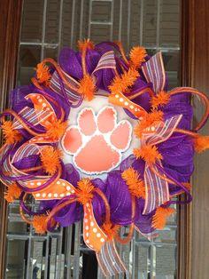 Clemson University Wreath by Wreathmarket on Etsy, $85.00