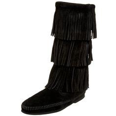 Minnetonka Women's 3-Layer Fringe Boot