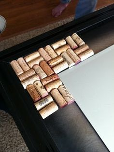 Wine cork mirror. Awesome!