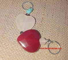 LOVE  and #FENGSHUI  by #fengshuisrbija srce od roze kvarca sa tirkiz kristalom