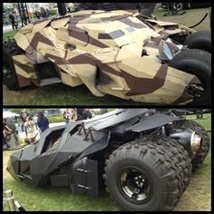 Which tumbler would you choose? #ComicConBatcave #Tumbler #Batmobile #TheDarkKnightRises #sdcc