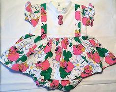 Baby Girls 12 M Dress Bubble Pink Pig Buttons Boutique Unique Sweet Boutique