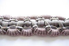 grey mauve rose silver chain bracelet by gudbling