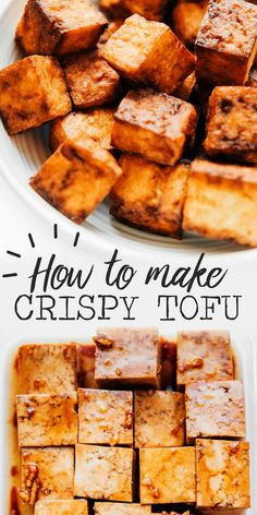 Recipes Snacks Vegan No cornstarch needed to make this deliciously crispy tofu recipe! This vegan air fried tofu tastes like it's straight from the deep fryer (while being way lower in fat). Vegetarian Recipes Easy, Cooking Recipes, Healthy Recipes, Firm Tofu Recipes, Vegan Tofu Recipes, Recipes Using Tofu, Snacks Recipes, Air Fryer Recipes Potatoes, Snacks