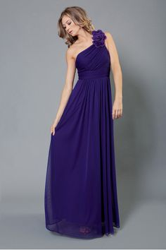 Single Shoulder Long Bridesmaids Dress