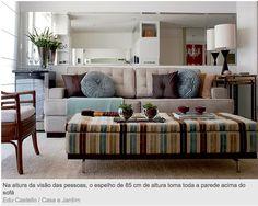 Espelho na sala de estar | Design é o que há!