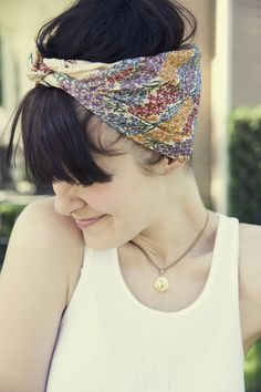 head scarfs are wonderful - need to start doing this more when my hair is up!