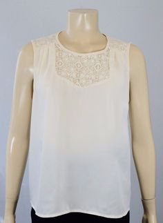 FOREVER 21 DESIGNER WOMEN'S LIGHT BEIGE SLEEVE LESS TOP SIZE M ON SALE  #FOREVER21 #Tank #AnyOccasion