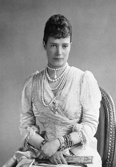 Maria Feodorovna (Dagmar of Denmark) was Empress of Russia as the spouse of Emperor Alexander III. She was the second daughter of King Christian IX of Denmark and Louise of Hesse-Cassel and sister of Britain's Queen Alexandra, and King George I of Greece. Among her children was the last Russian monarch, Emperor Nicholas II, whom she outlived by ten years