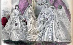"Godey's December 1861 ""Brides and Bridesmaids """