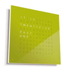 QlockTwo Classic tells time with lit words.