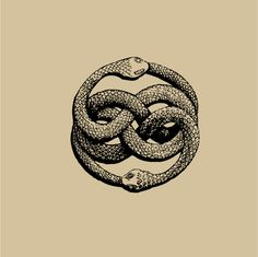 "Dessin Ouroboros tatouage - The AURYN sign, as imagined by Michael Ende in his book ""The Neverending Story"" Oroboros Tattoo, Story Tattoo, Auryn, The Neverending Story, Geniale Tattoos, Snake Tattoo, Sacred Geometry, Geometry Art, Dark Art"