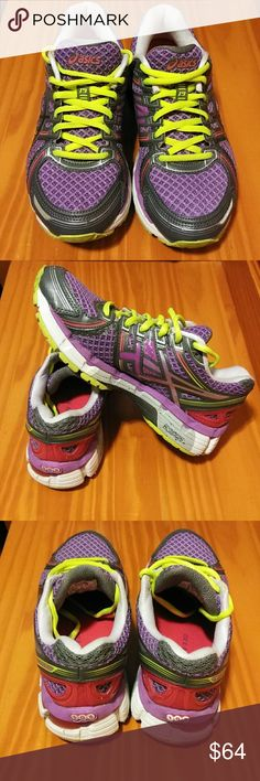 a61f0e574e ASICS GEL KAYANO 19 ASICS GEL KAYANO 19 stability running shoes synthetic  upper rubber sole purple