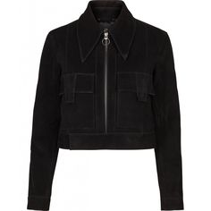 Raw and feminin black goat jacket. Style it with a pair of jeans and raw boots for a every day goat suede