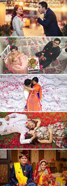 Best Love Story Photoshoot Ideas Petals, Love Story Couple Photosets, Love in the Petal Rose WeddingNet Pre Wedding Shoot Ideas, Pre Wedding Poses, Pre Wedding Photoshoot, Photoshoot Ideas, Indian Wedding Photography Poses, Couple Photography Poses, Engagement Photography, Wedding Stills, Before Wedding