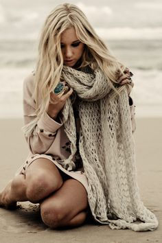 Storm Chaser Mohair Scarf - Love all the photos from this shoot. So gorgeous <3