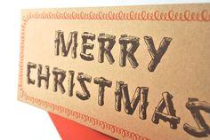 Merry Christmas Original Letterpress Holiday Card