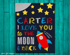 Personalized I love you to the moon and back and to infinity and beyond sign by LittleLifeDesigns