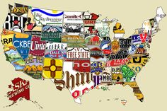 Great map of beer per state. I can confirm that Four Peaks is the official State Beer of Arizona.