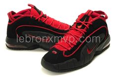 38e498ffa0 Buy Nike Air Penny,Nike Air Penny 1 Black Red Basketball Shoes 03 For Sale