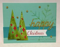 Stampin' Up! demonstrator Sharon C's project showing a fun alternate use for the Watercolor Winter Simply Created Card Kit.