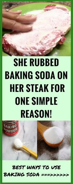 She Rubbed Baking Soda on Her Steak For ONE Simple Reason! BEST WAYS TO USE BAKING SODA !