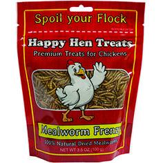 Happy Hen Treats Mealworm Frenzy Chicken Treats at PetSmart. Shop all bird pet bird food online My Pet Chicken, Chicken Treats, Backyard Poultry, Chickens Backyard, Poultry Supplies, Pet Supplies, Dog Snacks, Dog Treats, Meal Worms