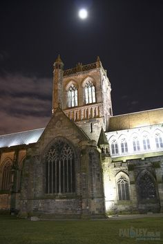 Paisley Abbey under a Moonlit Night Sky   Flickr - Photo Sharing!