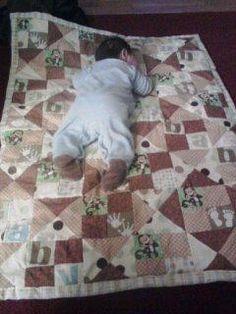 baby monkey quilt