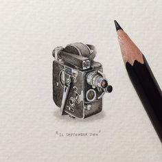 Artist Creates Miniature Paintings Everyday For An Entire Year - Artist creates miniature paintings everyday entire year