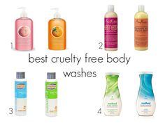 Best Cruelty Free Body Washes | Beauty4Free2U