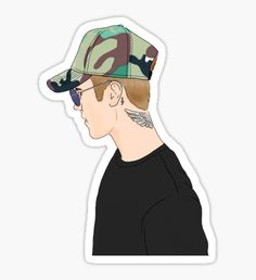 Justin Profile Drawing Pegatina